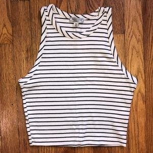 Abercrombie&Fitch Striped Crop Top